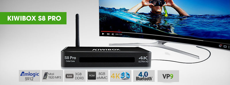 Android TV Box Kiwibox S8 Pro