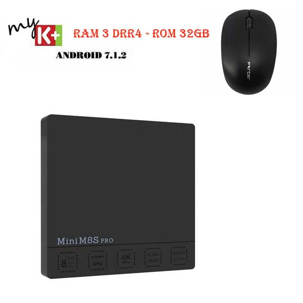 Mini M8S Pro-C - Ram 3 DRR4, Rom 32GB, Android 7.1