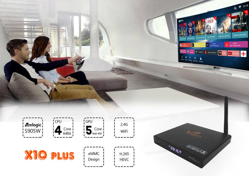 cấu hình Tv box vinabox x10 plus
