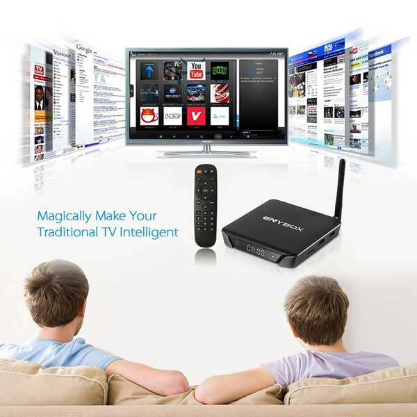 Android TV box Enybox -X1 Ram 2GB, Rom 16GB Quad Core 4K H.265