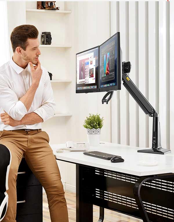 Giá treo hai màn hình máy tính NB-F27 ( 22-27 inch)